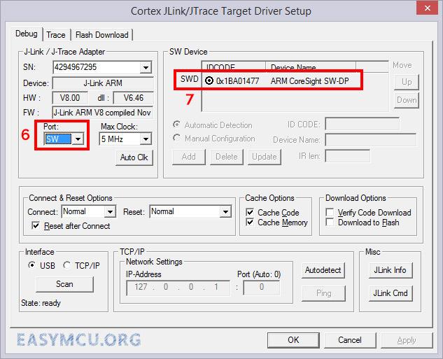 پروگرام کردن میکروکنترلر STM با استفاده از Jlink