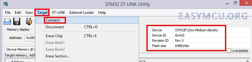 استفاده از نرم افزار STM32 ST-Link Utility