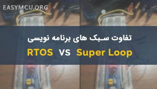مقایسه برنامه نویسی به روش RTOS و Super Loop